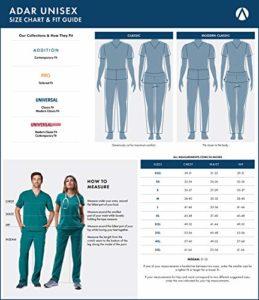 Adar Ensemble Uniformes Unisexe Blouse – Uniforme Médical avec Haut et Pantalon – 701 Couleur: BRG   Taille: XS