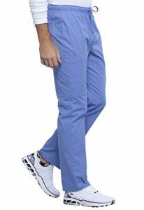 Cherokee Workwear WW Professionals WW030 Pantalon de travail unisexe Coupe droite avec cordon de serrage – Bleu – Medium haut