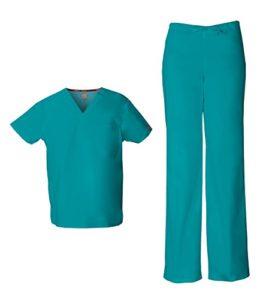 Dickies EDS Signature Ensemble de gommages unisexe (haut et pantalon) – Bleu – 3XL haut/XXL pantalone