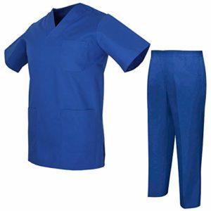 MISEMIYA – Ensemble Uniformes Unisexe Blouse – Uniforme Médical avec Haut et Pantalon – Ref.8178 – XX-Large, Grenat