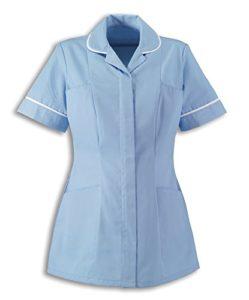 Alexandra   Femmes   Tunique de soins de santé   Idéale pour les infirmières, les soignants et les travailleurs de la santé privés – Bleu – 46