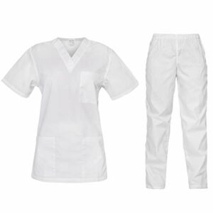 B-well Cesare Uniforme Médicale Unisexes Ensemble: Haut et Pantalons – Uniforme de la Santé pour Médecin Infirmières Dentistes Tenue Aide Soignante Professionnelle