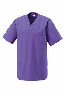 Veste à enfiler pour médecine et soins – Différentes couleurs – XS-5XL – Violet – Taille Unique