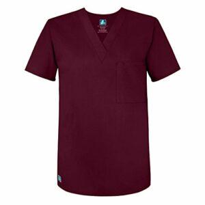 Adar Universal Blouse Médicale Unisexe – Tunique Col en V – 6011 – Burgundy – XL