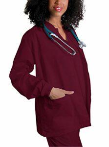 Adar Universal Veste Infirmière – Blouse Chaude à Col Rond – 602 – Burgundy – XL