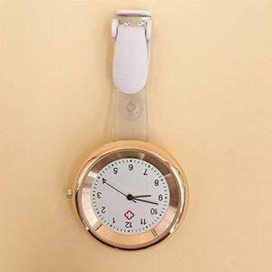 FGMGFTG Montre à Broche Durable Montre infirmière Broche Clip Design Infirmière Broche Fob Watch Montre colorée Infirmière Médecin Paramédical Médical (Color : Orange)