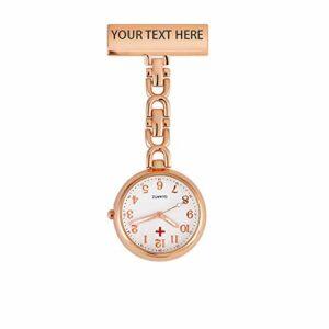 Infirmière Fob Watch – Montre d'infirmière gravée personnalisée Vintage Retro Creative Broches Portable Médecin Infirmière Watch