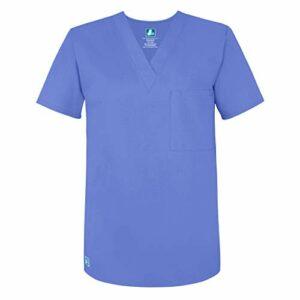 Adar Universal Blouse Médicale Unisexe – Tunique Col en V – 6011 – Ceil Blue – M