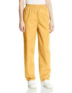 Cherokee Pantalon Unisexe Élastique Pour personnel médical – Jaune – X-L Petite