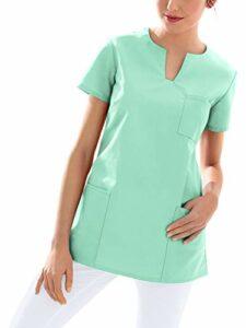 CLINIC DRESS Tunique à enfiler pour femme pour les soins infirmiers et les soins aux personnes âgées. – Vert – M