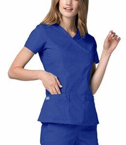 Adar Universal Blouse Médicale Femme – Tunique Croisée Couture Doublée – 2638 – Royal Blue – S
