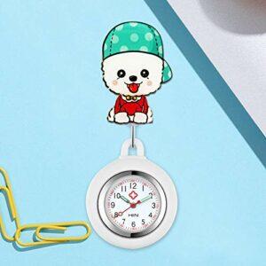 Cxypeng Montre d'infirmier Broche FOB des Infirmieres,Montre de Poche Extensible Mignonne pour infirmière, Montre à Suspendre Docteur-Golden,FOB Medical Watch