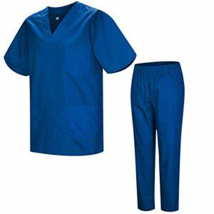 Misemiya – Ensemble Uniformes Unisexe Blouse – Uniforme Médical avec Haut et Pantalon – Ref.8178 – Large, Azul 37