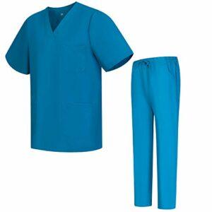 Workwear Tucano – Ensemble Uniformes Unisexe Blouse – Uniforme Médical avec Haut et Pantalon – Ref.6801-6802 – XX-Large, Turquoise