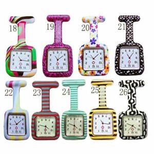 CAIDAI&YL Montre d'infirmière à quartz en silicone, cadran carré, montre d'infirmière à suspendre, montre de médecin, 7