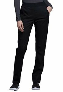 CHEROKEE – Pantalon Taille Élastique CK040 – Pantalon Médical pour Infirmière, Vétérinaire, Aide-Soignante, Kiné XL Noir