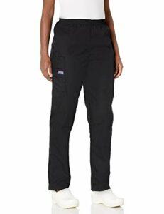 Cherokee Pantalon Unisexe Élastique Pour personnel médical – Noir – X-Small Petite