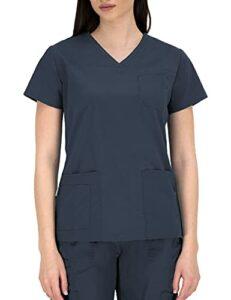 B-well Andrea Tunique de soins pour femme à manches courtes et col en V pour infirmières, dentistes, médecins, étudiants, vétérinaires – Gris – 42