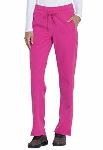 Dickies Dynamix DK130P Pantalon d'infirmière taille mi-haute avec cordon de serrage pour femme Rose vif Taille S