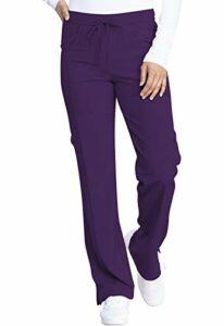 Dickies EDS Essentials DK010 Pantalon d'infirmière taille mi-haute avec cordon de serrage pour femme – violet – X-Small haut