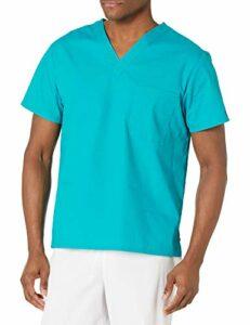 Dickies Signature blouse médicale à col en V pour homme – Bleu – Taille 4XL