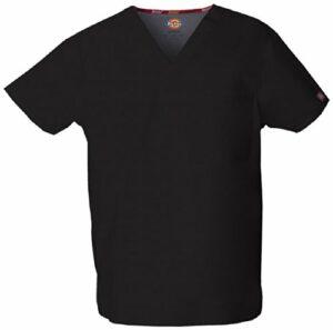 Dickies Signature blouse médicale à col en V pour homme – Noir – Taille L
