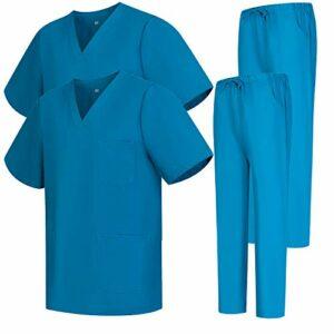 Misemiya – Pack * 2 Pcs – Ensemble Uniformes Unisexe Blouse – Uniforme Médical avec Haut et Pantalon – Ref.2-8178 – X-Small, Turquoise 68