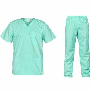 B-well Cesare Uniforme Médicale Unisexes Ensemble: Haut et Pantalons + Blouse Medicale Femme/Homme – Tenue Aide Soignante ProfessionnelleVert XL