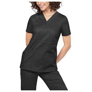 Kasacks – uniforme médical pour femme – Qualité supérieure – Col en V – Tunique à enfiler – Chemise d'infirmière de laboratoire – Couleur unie – Avec poches