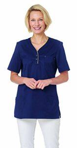 Leiber Veste à enfiler pour femme 1/2 pour médecine et soins – Bleu – XXXL