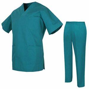 Misemiya – Ensemble Uniformes Unisexe Blouse – Uniforme Médical avec Haut et Pantalon – Ref.8178 – Medium, Verde 3B