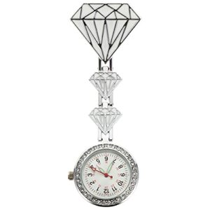UKCOCO Infirmières Fob Montre- Adorable Infirmière Montre De Poche Infirmières Suspendus Montre Médicale Revers Broches Clip- on Broche Hanging Pocket Fob Montres