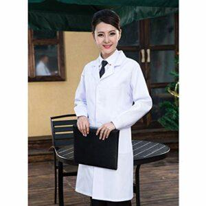Vêtements pour femmes Pharmacie Vêtements de Travail Médecin Vêtements Manches Longues Femme Blouses Blanches, Taille: XL, Hauteur: 170cm