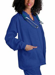 Adar Universal Veste Infirmière – Blouse Chaude à Col Rond – 602 – Royal Blue – 3X