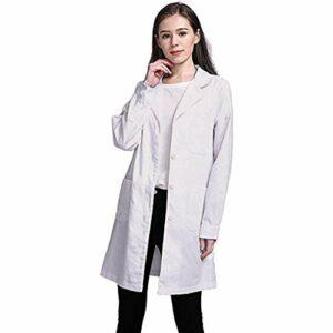 Blouse de médecin pour Femme – Blouse de Laboratoire – Adaptée aux étudiants – Blouse Blanche pour Femme/Laboratoire Scientifique/Infirmière/Cosplay/Grande Taille Blouse Pas Cher