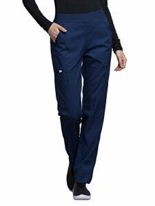CHEROKEE – Pantalon Taille Élastique CK040 – Pantalon Médical pour Infirmière, Vétérinaire, Aide-Soignante, Kiné L Bleu Marine