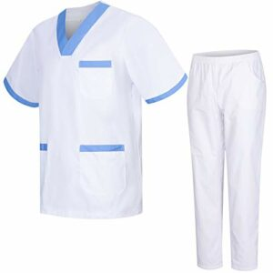 Misemiya – Ensemble Uniformes Unisexe Blouse – Uniforme Médical avec Haut et Pantalon – Ref.8178 – Medium, Banco 8171-