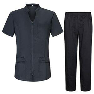 Misemiya – Uniforme Médical avec Haut et Pantalon Uniformes Médical Femme Manches Courtes – Ref.7028 – Large, No
