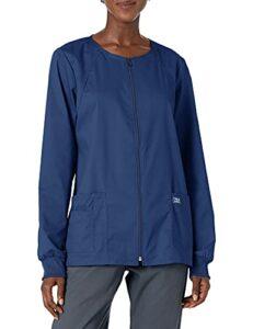 Workwear 4315 Core Stretch Veste d'infirmière zippée sur le devant pour femme – bleu – Taille XL