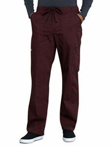 Workwear Professional Pantalon d'infirmière pour homme Coupe fuselée Braguette avant cargo WW190 – marron – XXL grand taille courte