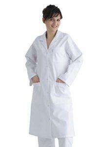 Marion – Blouse Blanche Femme – 100% Coton – Chimie, Laboratoire ou Médecine – Boutons Pression – 208GAB (52)
