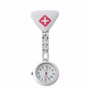 #N/D Montre de poche médicale à quartz pour infirmière, médecin, infirmière, en acier inoxydable