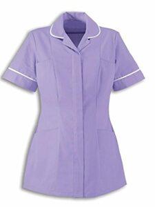 Tunique d'infirmière HP298 – Taille : 120 cm – Couleur : lilas avec passepoil blanc